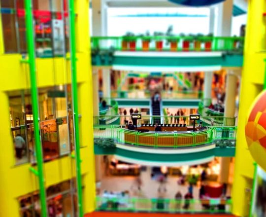 Carousel Mall miniature-effect time lapse