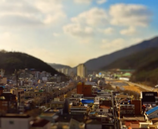 Daegu, South Korea tilt-shift time lapse